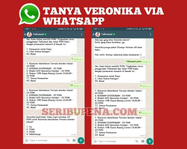 Chat Veronika Asisten Virtual di WhatsApp