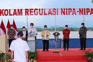Peresmian Kolam Regulasi Waduk Nipa-Nipa oleh Presiden RI Joko Widodo