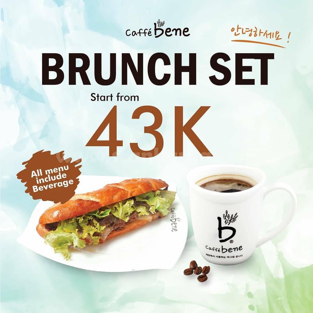 Promo CAFFE BENE Special Price Brunch Set Start From 43K