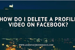 How do I delete a Facebook profile video?