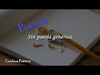Sin poesía genérica