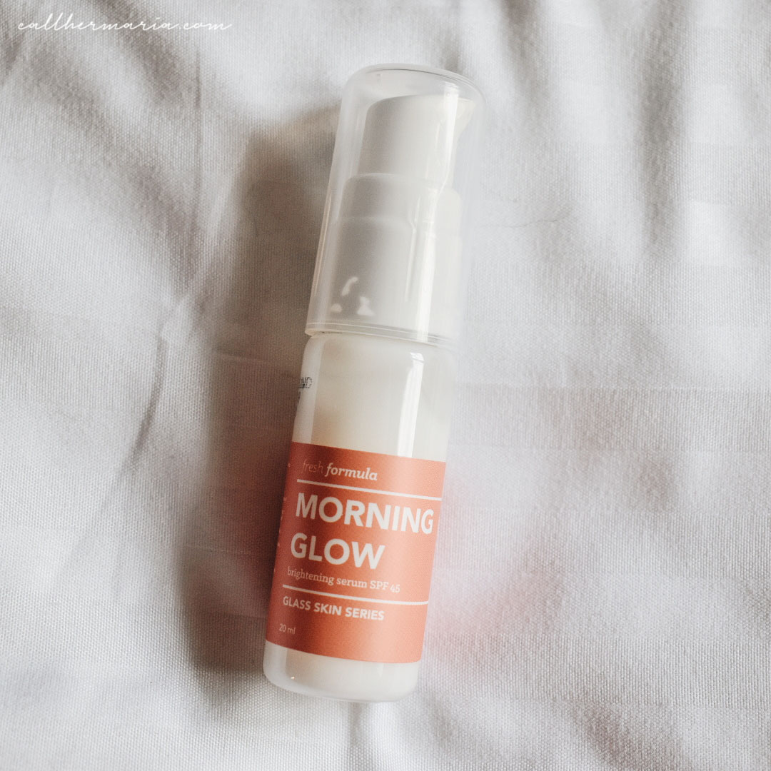 Fresh Formula Glass Skin Series Review - Morning Glow Brightening Serum SPF 45