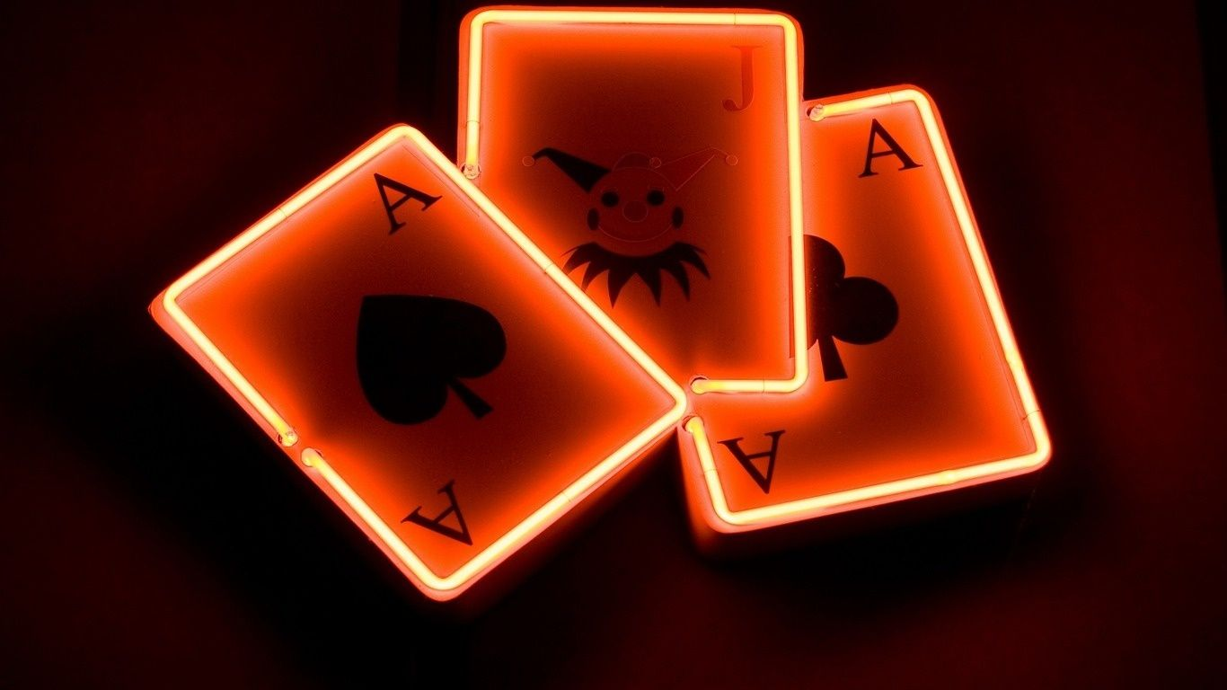 Neon Cards HD Wallpaper