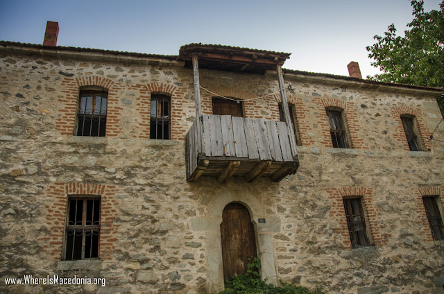 Traditional architecture in Ljubojno village, Prespa region, Macedonia