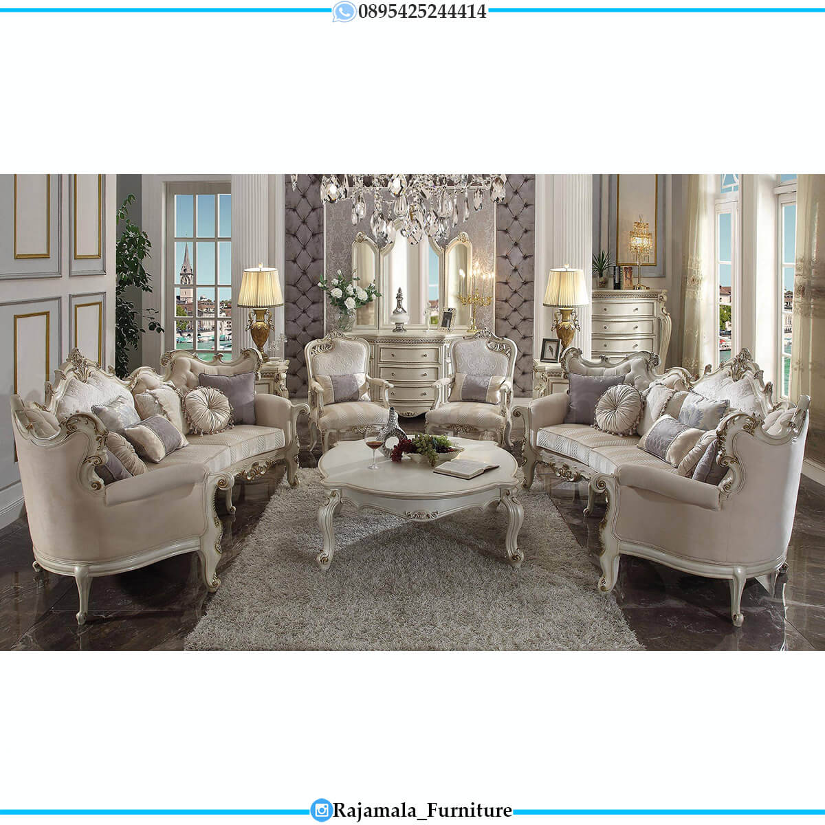 Sofa Tamu Mewah Jepara Elegant Design Luxury Carving Style RM-0610