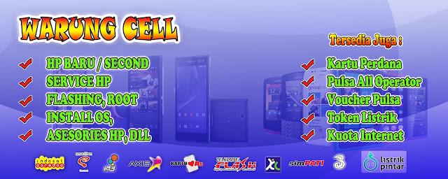 Download GratisTemplate Banner Toko Handphone Pulsa Potoshop