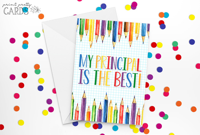 Free Printable Principal Appreciation Cards
