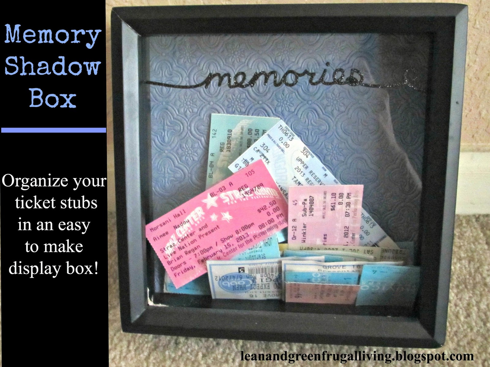 Organize Your Ticket Stubs in a Memory Shadow Box!
