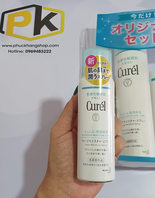 Bộ cấp ẩm chăm sóc da dạng xịt, cao cấp Curél Deep Moisture Spray - KAO - Hàng nội địa Nhật