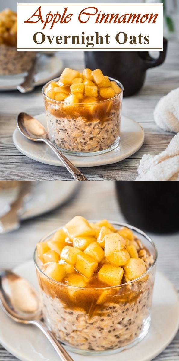 Apple Cinnamon Overnight Oats #breakfastideas