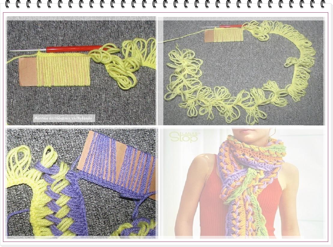 tejer, telares, bufanda, cartón, crochet, tricot