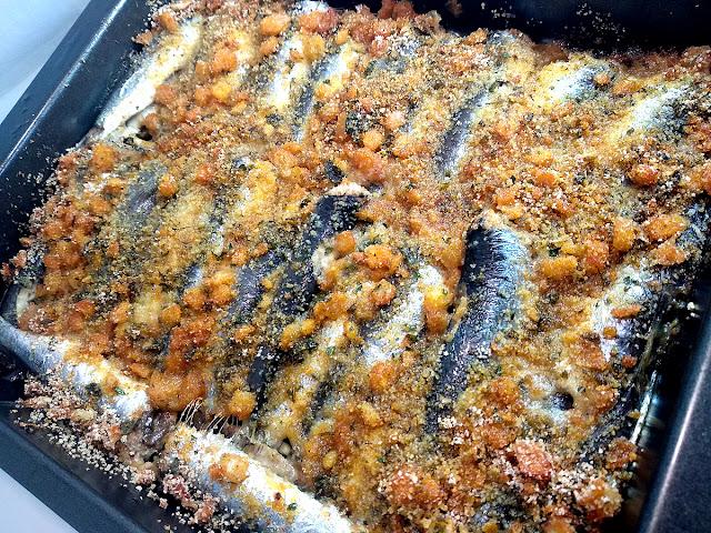 Bandeja sardinas a la navarra