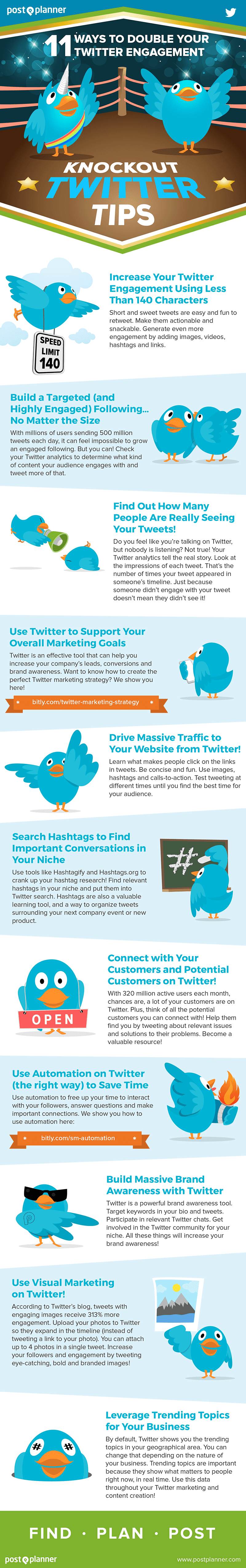 11 Ways To Double Your Twitter Engagement - #infographic