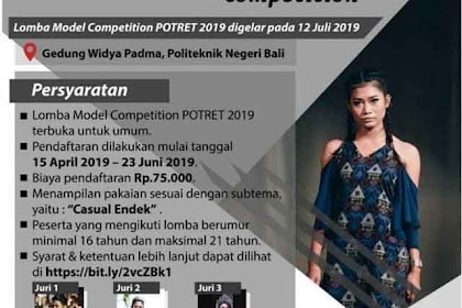 Lomba Fashion Show Photonity Art And Exhibition 2019 Untuk Umum