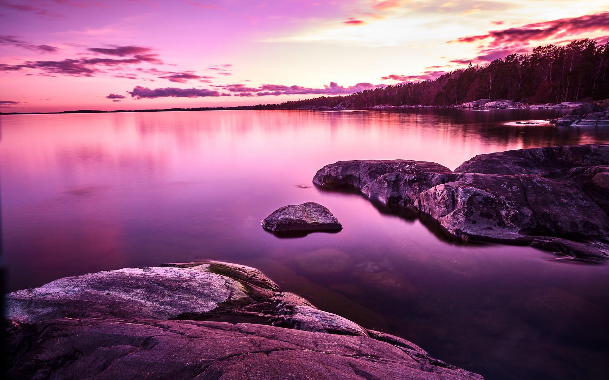 Nature Sunset Lake