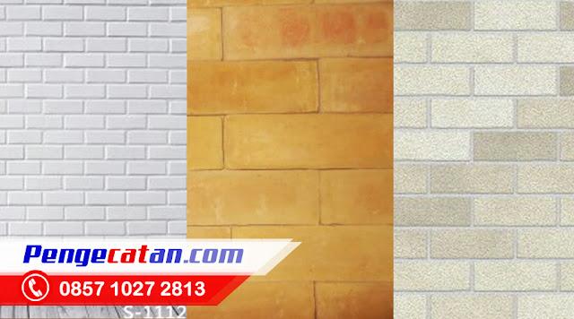 Cat Tembok Tekstur Batu Bata