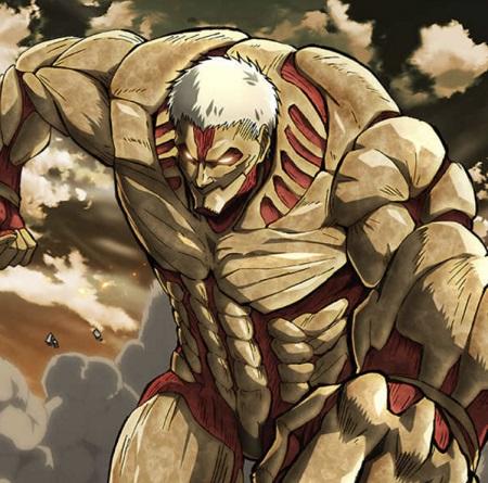 The Armored Titan in Attack on Titan