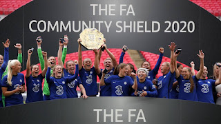 Chelsea Women defeat Manchester City to win first FA Community Shield at Wembley Stadium.