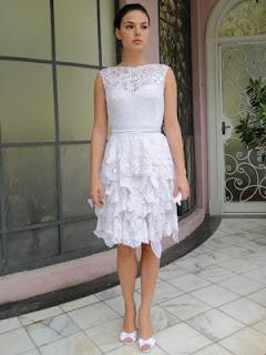vestidos de noiva curtos de renda para casamentos de dia - dicas e fotos