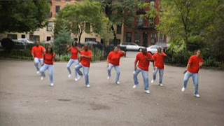 There are 8 dancers in the park. Sesame Street Preschool is Cool, Counting With Elmo