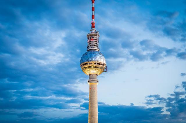Estação de observação da Torre de TV em Berlim