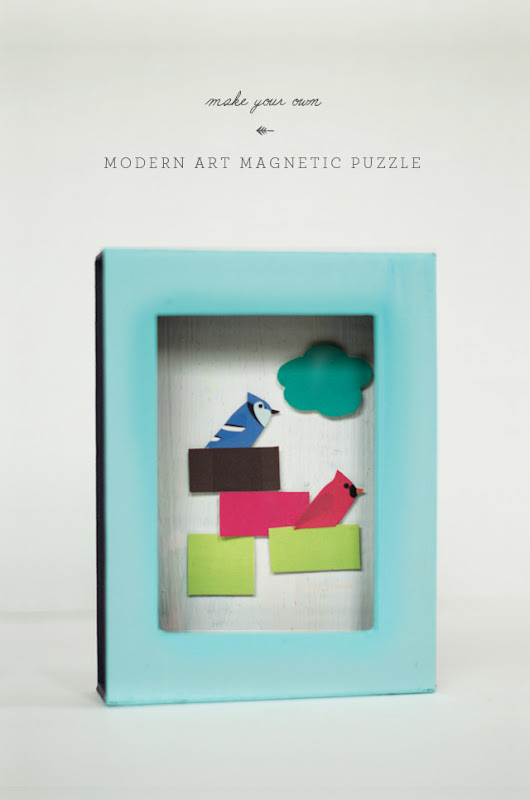 Modern Art Magnetic Puzzle Box