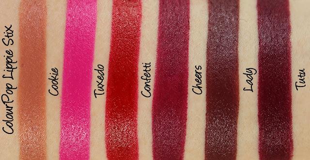ColourPop Forget the Fruitcake Lippie Stix Set Swatches & Review