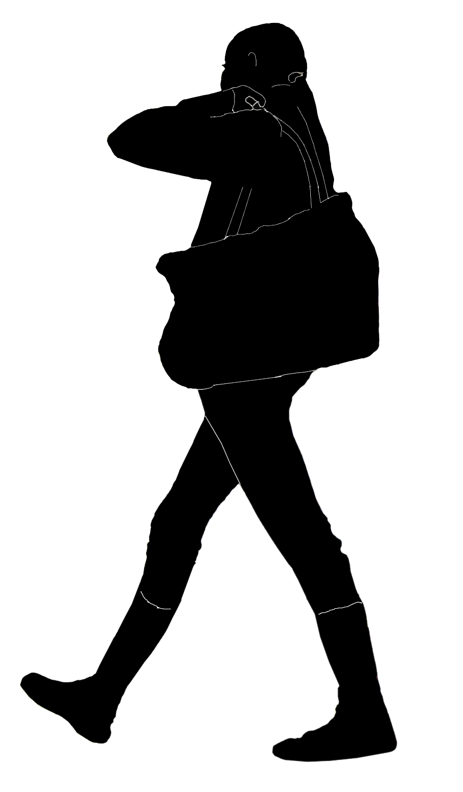 Stock Pictures Travelers Or Women With Bags Silhouettes