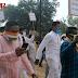 आसमान छूती डीजल-पेट्रोल के दाम को लेकर मैनपुर में कांग्रेस कार्यकर्ताओं द्वारा रैली एवं धरना प्रदर्शन।diesel petrol price in India