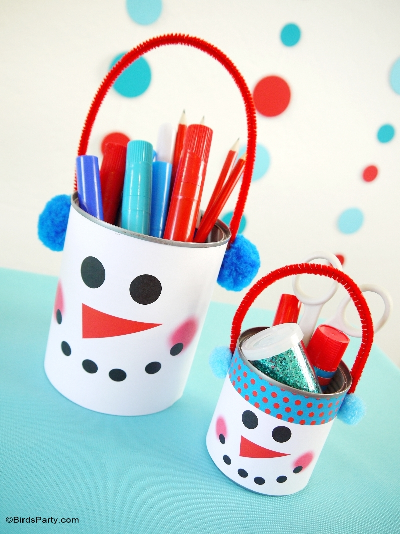 Diy christmas party decorations - Kids Holiday Tablescape Red Teal Snowman Christmas Diy Decor With Free Printables