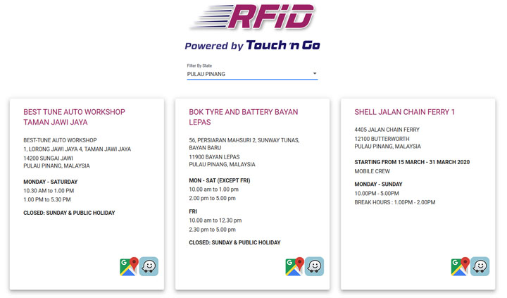 Semak Lokasi Pemasangan RFID