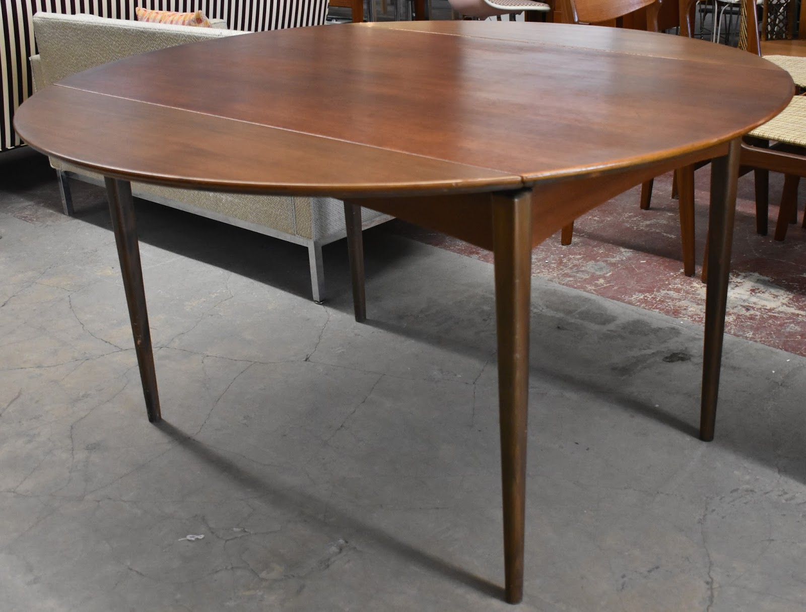 Vintage Dux Teak Dining Table Two self storing drop leaves Sweden c