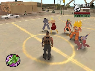 مود حرب GTA SA ~ War DBZ vs Naruto
