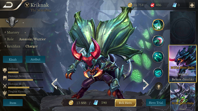 Tips Build Kriknak Hero Assassin Arena Of Valor (AOV), Si Utusan Kematian