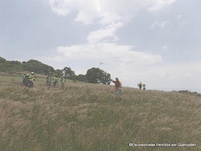 En el puerto de lanzamiento de Alas Delta en el Cerro La Lima