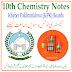 10th Class Chemistry KPK Board PDF Notes
