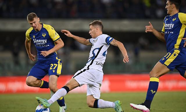 ملخص واهداف مباراة انتر ميلان وهيلاس فيرونا (3-1) الدوري الإيطالي