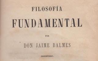 Filosofia Fundamental Jaime Balmes