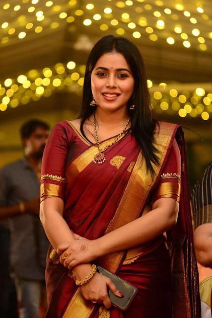 Actress Poorna Latest Cute Pics In Saree Actress Trend