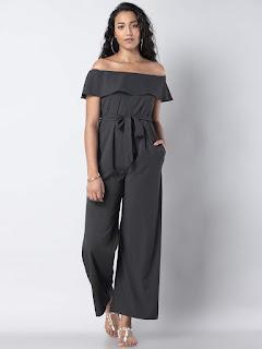 Grey-solid-basic-jumpsuit