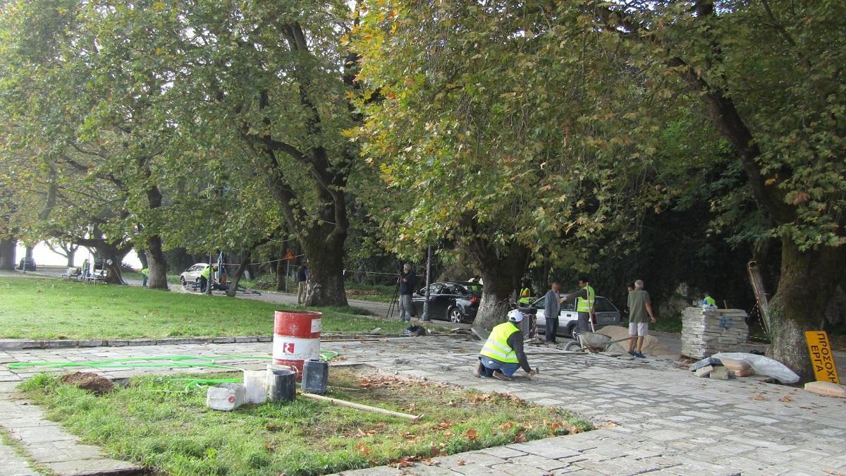 Ιωάννινα:Παρεμβάσεις  στην παραλίμνιο...εκστρατεία για την αφισορύπανση