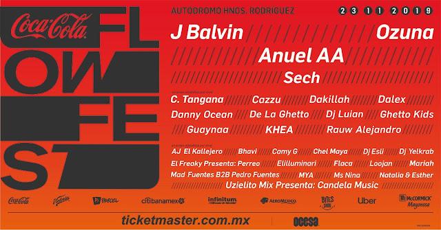 Coca Cola Flow Fest 2019 23 de Noviembre compra boletos en primera fila baratos no agotados