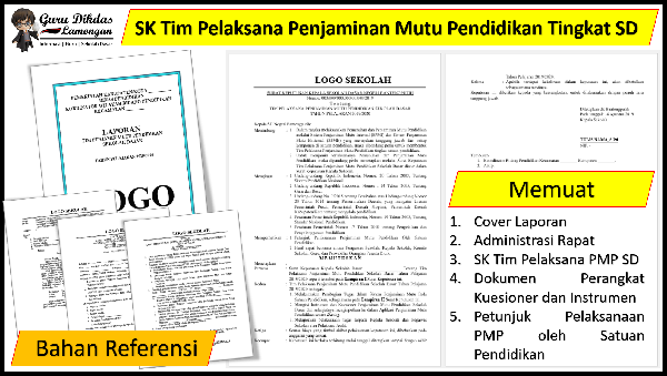 SK Tim Pelaksana Penjaminan Mutu Pendidikan Tingkat SD