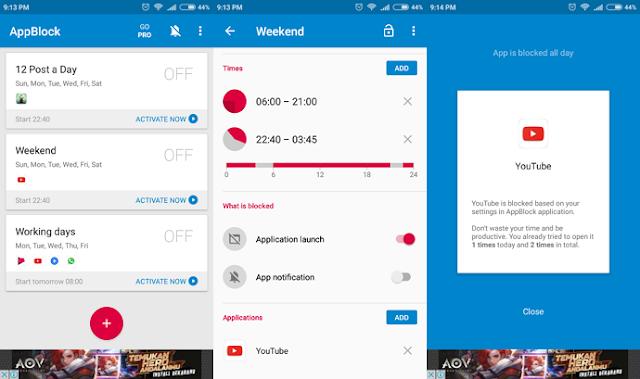 AppBlock, Aplikasi Pemblokir Aplikasi untuk Meningkatkan Produktivitas