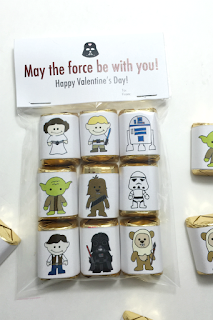 Valentine´s Day Star Wars: Free Printable Chocolate Wrappers