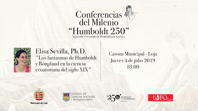 Conferencias del Milenio Humboldt 250 se presentan en Loja