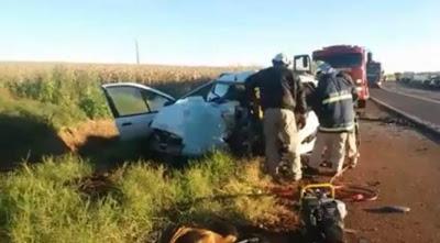 6f213a53c Foram identificadas as quatro pessoas que morreram em um grave acidente  ocorrido na rodovia BR 163 entre Novo Horizonte e Mercedes nesta manhã (11).