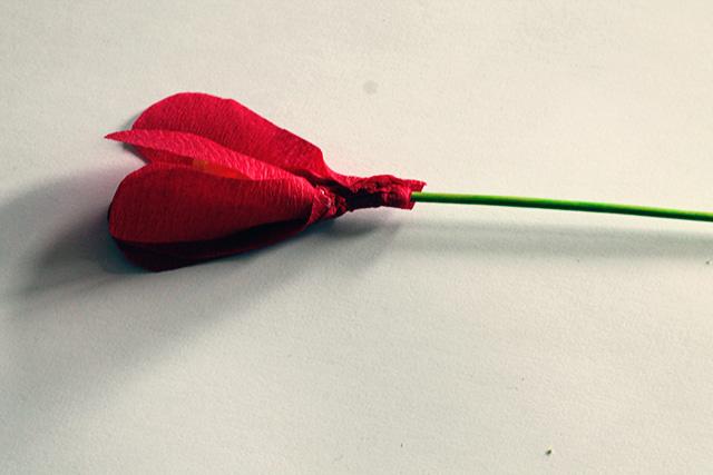 crepe papier bloem