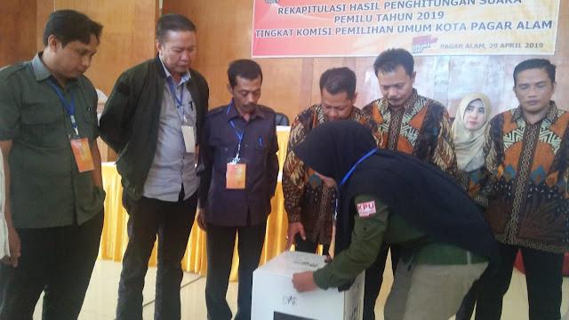 Tentukan Pemenang Pemilu di Kota Pagaralam, Rapat Pleno terbuka Di Gelar KPU