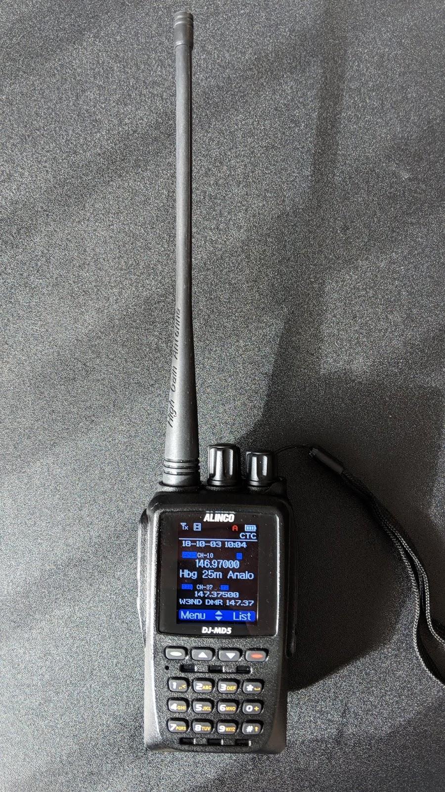 K3NYJ Amateur Radio: Alinco DJ-MD5T radio review